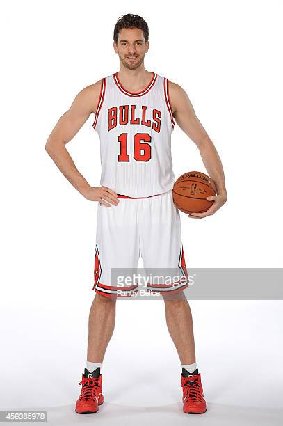 Pau Gasol of the Chicago Bulls poses for a picture as part of 201415 NBA Media Day at The Advocate Center on September 29 2014 in Chicago Illinois...