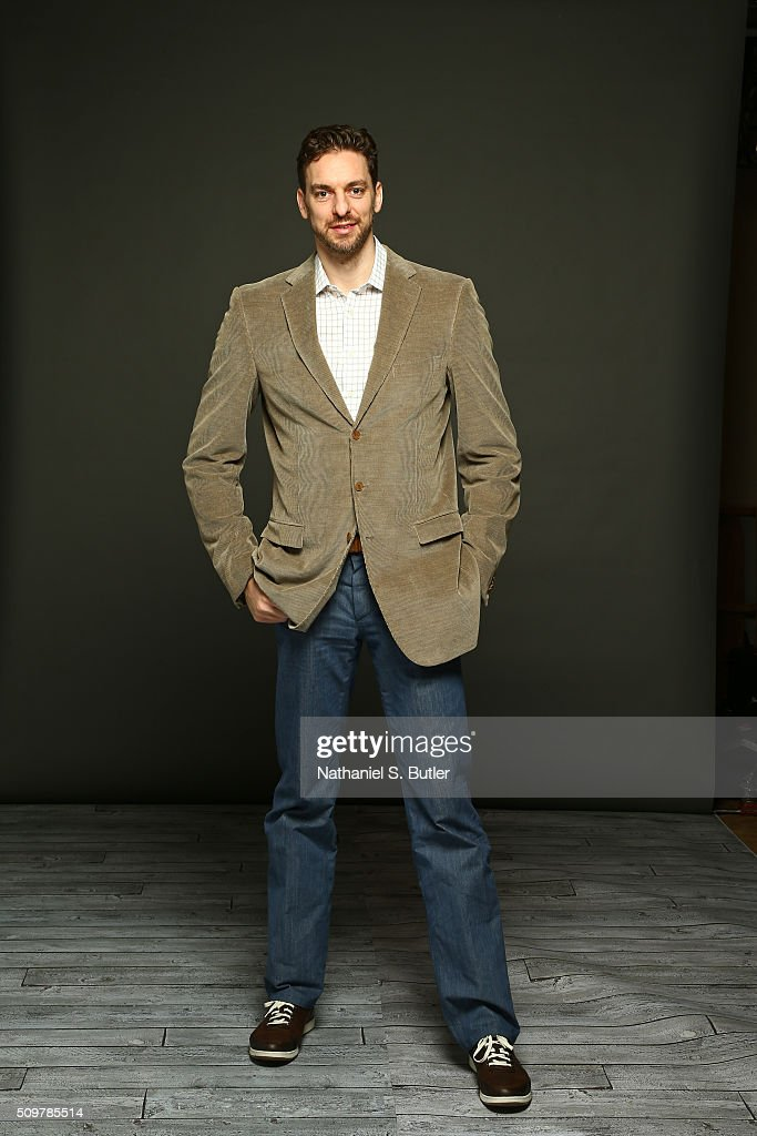 <a gi-track='captionPersonalityLinkClicked' href=/galleries/search?phrase=Pau+Gasol&family=editorial&specificpeople=201587 ng-click='$event.stopPropagation()'>Pau Gasol</a> #16 of the Chicago Bulls poses for a portrait on February 12, 2016 at the Sheraton Centre as part of 2016 NBA All-Star Weekend in Toronto, Ontario Canada.