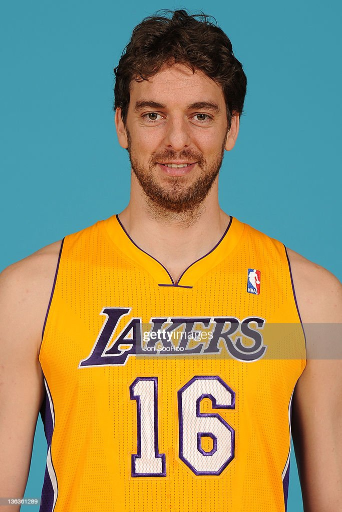 <a gi-track='captionPersonalityLinkClicked' href=/galleries/search?phrase=Pau+Gasol&family=editorial&specificpeople=201587 ng-click='$event.stopPropagation()'>Pau Gasol</a> #16 of the Los Angeles Lakers poses for a photo during Media Day at Toyota Sports Center on December 11, 2011 in El Segundo, California.