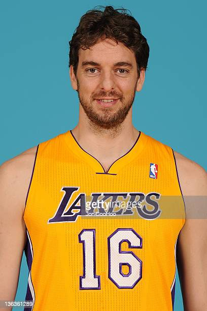 Pau Gasol of the Los Angeles Lakers poses for a photo during Media Day at Toyota Sports Center on December 11 2011 in El Segundo California NOTE TO...