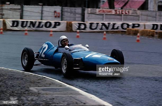 Pau Grand Prix 1964 Sur le circuit de PAU une voiture française dans un virage