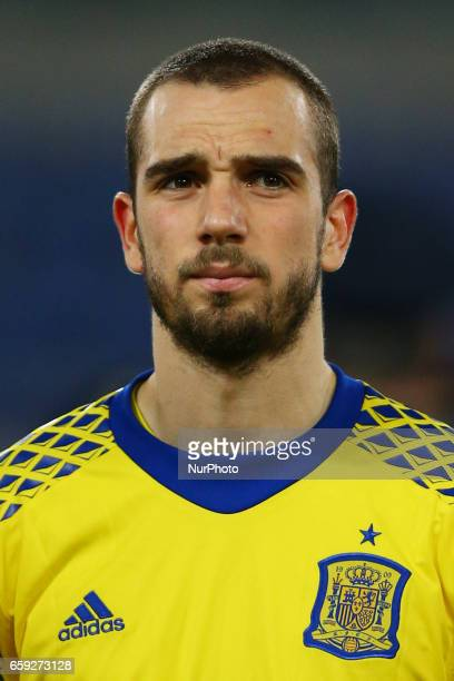 Pau Lopez of Spain at Olimpico Stadium in Rome Italy on March 27 2017
