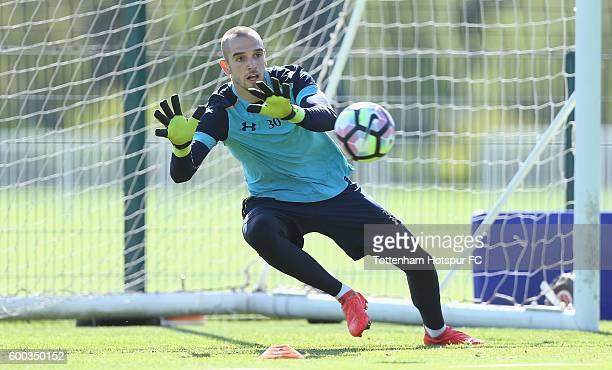 Pau Lopez of Tottenham during the Tottenham Hotspur training session at Tottenham Hotspur training centre on September 8 2016 in Enfield England