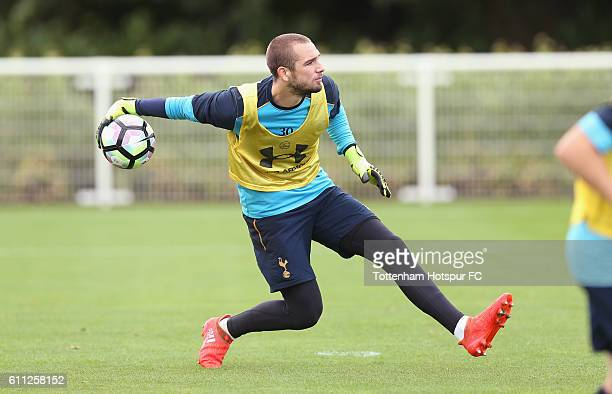Pau Lopez of Tottenham during the Tottenham Hotspur training session at the Tottenham Hotspur training centre on September 29 2016 in Enfield England