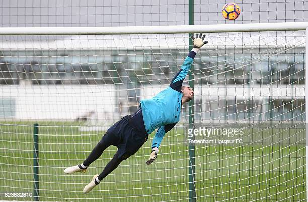 Pau Lopez of Tottenham during the Tottenham Hotspur training session at Tottenham Hotspur Training Centre on November 17 2016 in Enfield England