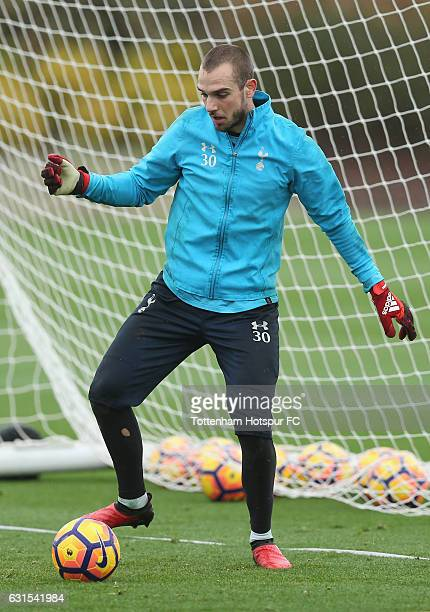 Pau Lopez of Tottenham during the Tottenham Hotspur Training session at Tottenham Hotspur Training Centre on January 12 2017 in Enfield England