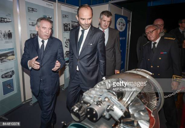 Pau mayor Francois Bayrou French Prime Minister Edouard Philippe French lawmaker Jean Lassalle and prefect of the Pyrenees Atlantiques department...