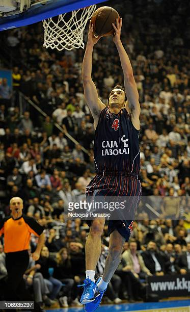 Pau Ribas #4 of Caja Laboral in action during the Turkish Airlines Euroleague Date 5 game between Partizan mts Belgrade and Caja Laboral at Pionir...