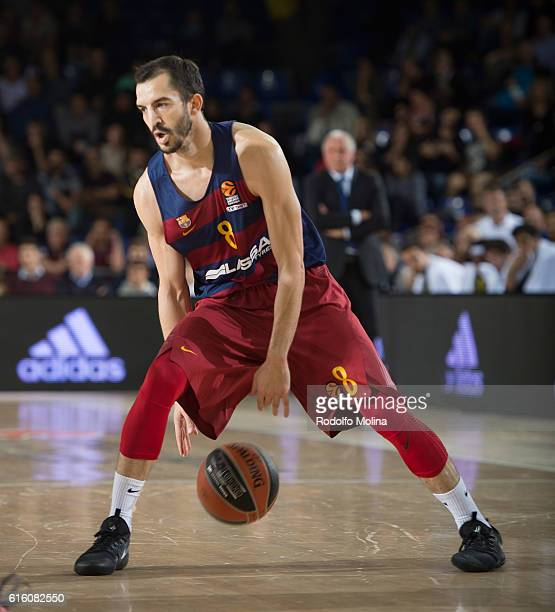 Pau Ribas #8 of FC Barcelona Lassa in action during the 2016/2017 Turkish Airlines EuroLeague Regular Season Round 2 game between FC Barcelona v...