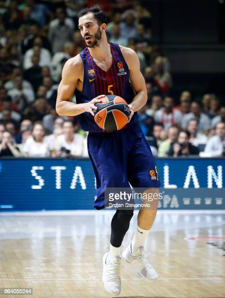 Pau Ribas of Barcelona in action during the 2017/2018 Turkish Airlines EuroLeague Regular Season game between Crvena Zvezda mts Belgrade and FC...