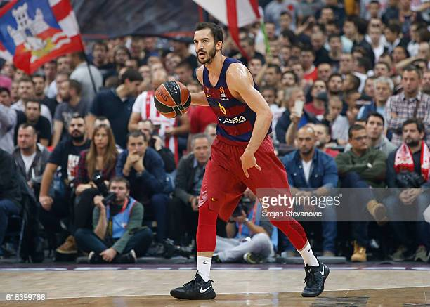 Pau Ribas of Barcelona Lassa in action during the 2016/2017 Turkish Airlines EuroLeague Regular Season Round 3 game between Crvena Zvezda MTS...