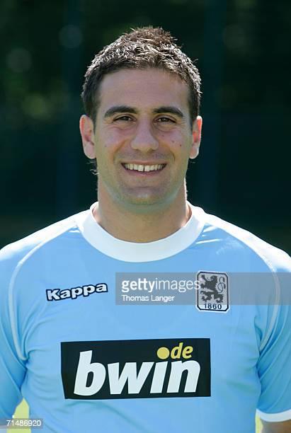 Paul Agostino poses during the Bundesliga 2nd Team Presentation of 1860 Munich at the training ground Gruenwalder Street on July 17 2006 in Munich...