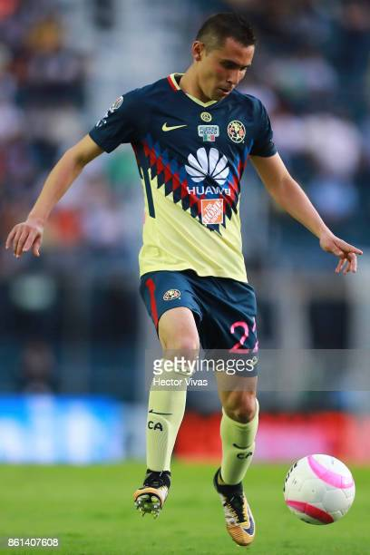 Paul Aguilar of America drives the ball during the 13th round match between Cruz Azul and America as part of the Torneo Apertura 2017 Liga MX at Azul...