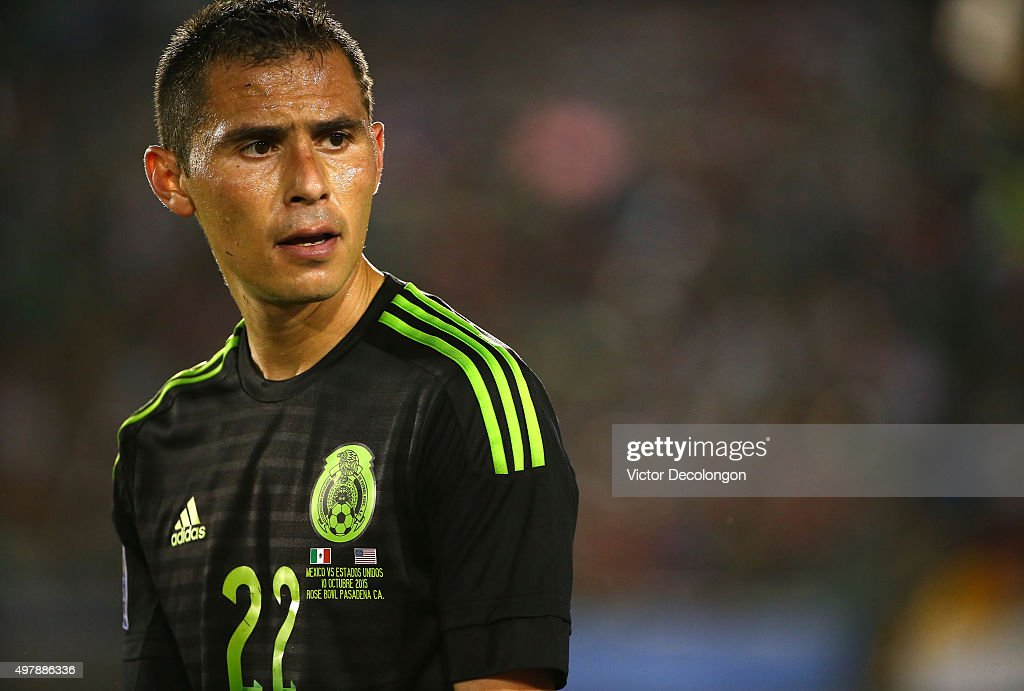 Paul Aguilar of Mexico looks on during the second half of extra time against the United States during the 2017 FIFA Confederations Cup Qualifying...