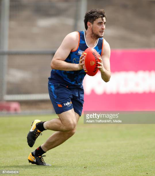 Paul Ahern of the Kangaroos in action during the North Melbourne Kangaroos training session at Arden St on November 15 2017 in Melbourne Australia
