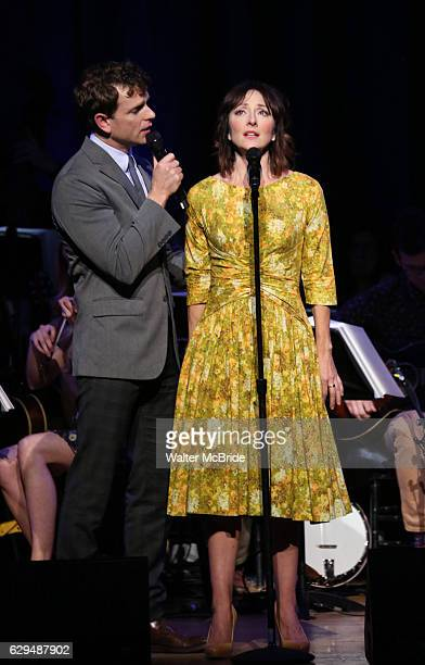 Paul Alexander Nolan and Carmen Cusack on stage during 'Bright Star' In Concert at Town Hall on December 12 2016 in New York City