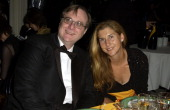Paul Allen and Monica Seles during 2003 Cannes Film Festival Cinema Against AIDS 2003 to benefit amfAR sponsored by Miramax Dinner at Le Moulin du...
