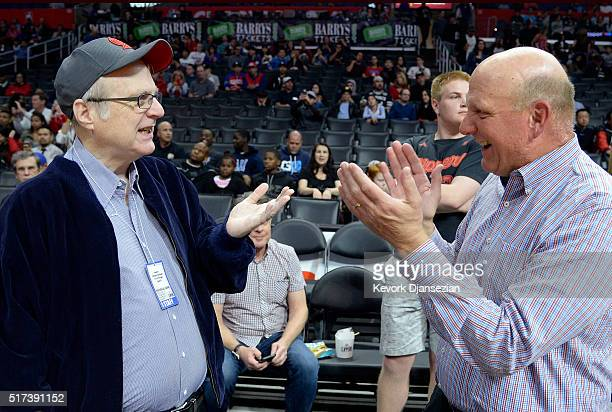 Paul Allen cofounder of Microsoft and owner of Portland Trail Blazers and Steve Ballmer former chief executive officer of Microsoft and owner of the...