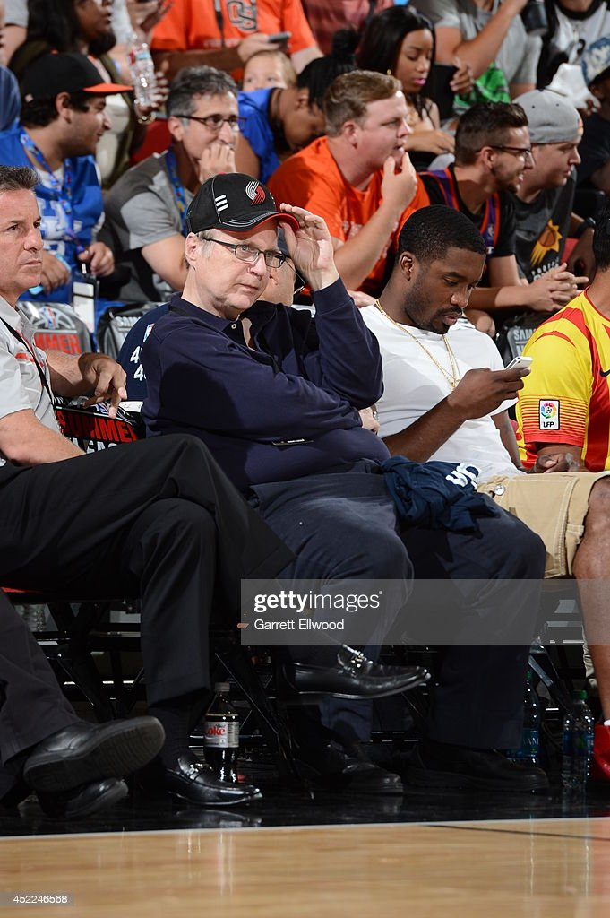 Paul Allen, owner of the Portland Trail Blazers looks on on July 12, 2014 at Cox Pavilion in Las Vegas, Nevada.