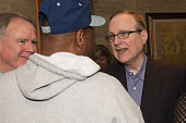 Paul Allen visits with guests during the FAM 1st FAMILY FOUNDATION Charity Event at The Edgewater Hotel on December 14 2014 in Seattle Washington