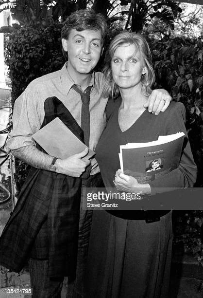 Paul and Linda McCartney during Linda McCartney File Photos at Beverly Hills Hotel California United States