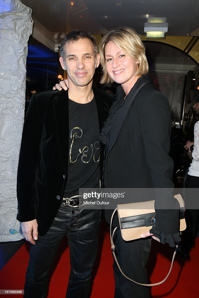 Paul and Luana Belmondo attend jeweler Edouard Nahum's 'Maya' collection launch cocktail party at La Gioia on December 4, 2012 in Paris, France.