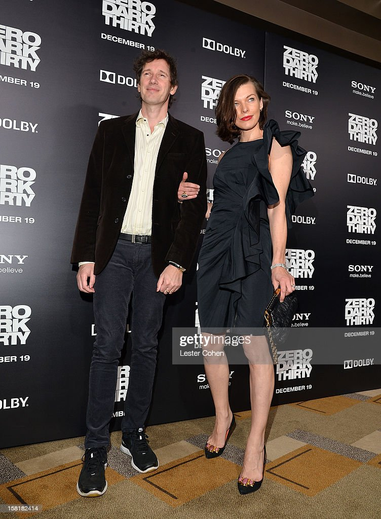 Paul Anderson (L) and actress <a gi-track='captionPersonalityLinkClicked' href=/galleries/search?phrase=Milla+Jovovich&family=editorial&specificpeople=202207 ng-click='$event.stopPropagation()'>Milla Jovovich</a> attend the 'Zero Dark Thirty' Los Angeles Premiere at Dolby Theatre on December 10, 2012 in Hollywood, California.