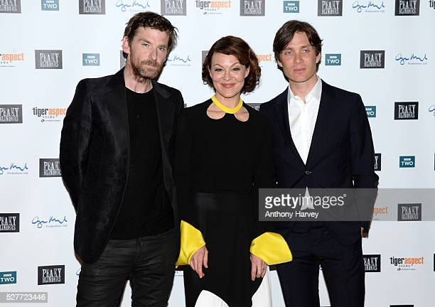 Paul Anderson Helen McCrory and Cillian Murphy attend the Premiere of BBC Two's drama 'Peaky Blinders' episode one series three at BFI Southbank on...
