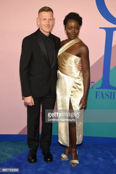 Paul Andrew and Lupita Nyong'o attend the 2017 CFDA Fashion Awards at Hammerstein Ballroom on June 5 2017 in New York City