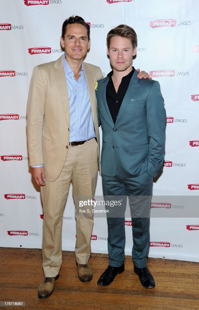 Paul Anthony Stewart and <a gi-track='captionPersonalityLinkClicked' href=/galleries/search?phrase=Randy+Harrison&family=editorial&specificpeople=240172 ng-click='$event.stopPropagation()'>Randy Harrison</a> attend 'Harbor' Opening Night After Party at Park Avenue Armory on August 6, 2013 in New York City.