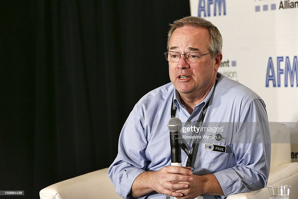 Paul Audley, President, FilmL.A. Inc. speaks at the North American Production Incentives at the Loews Santa Monica Beach Hotel on November 6, 2012 in Santa Monica, California.