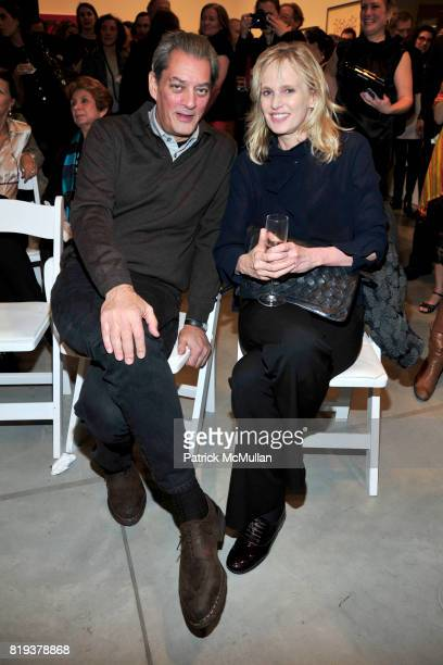Paul Auster and Siri Hustvedt attend THE WOOSTER GROUP First Benefit Art Auction at Sean Kelly Gallery on March 15 2010 in New York City