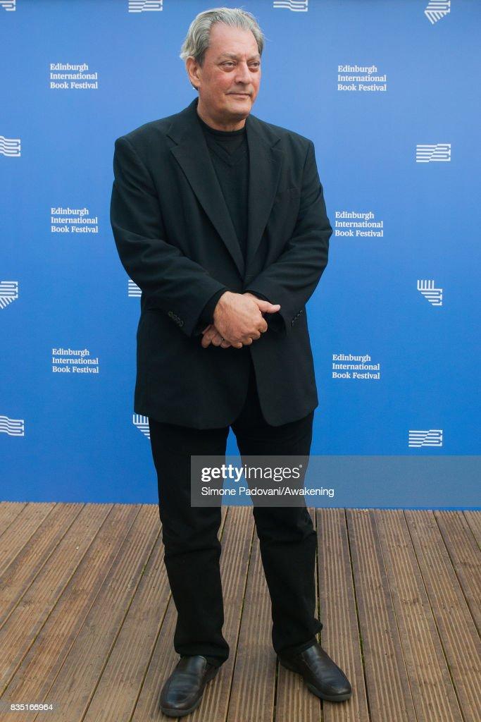 Paul Auster attends a photocall during the Edinburgh International Book Festival on August 18, 2017 in Edinburgh, Scotland.