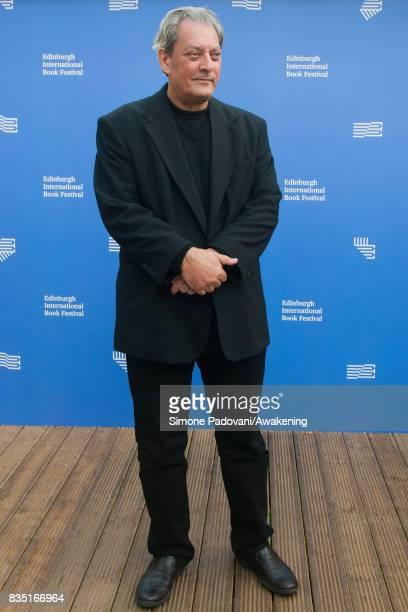 Paul Auster attends a photocall during the Edinburgh International Book Festival on August 18 2017 in Edinburgh Scotland