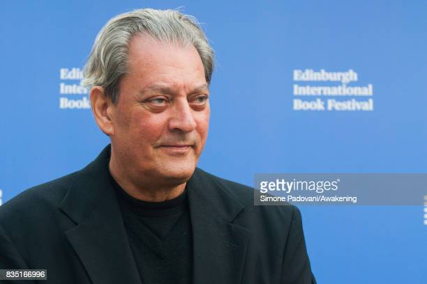 Paul Auster attends a photocall during the Edinburgh International Book Festival on August 18 2017 in Edinburgh Scotland