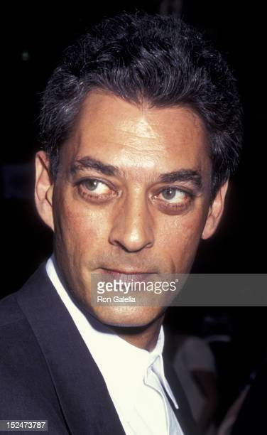 Paul Auster attends the premiere of 'Smoke' on June 8 1995 at Sony Theater in New York City