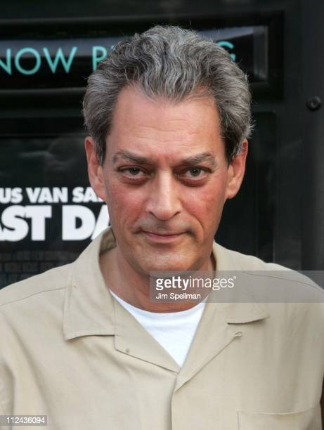 Paul Auster during Gus Van Zant's 'Last Days' New York City Premiere Outside Arrivals at The Sunshine Theater in New York City New York United States