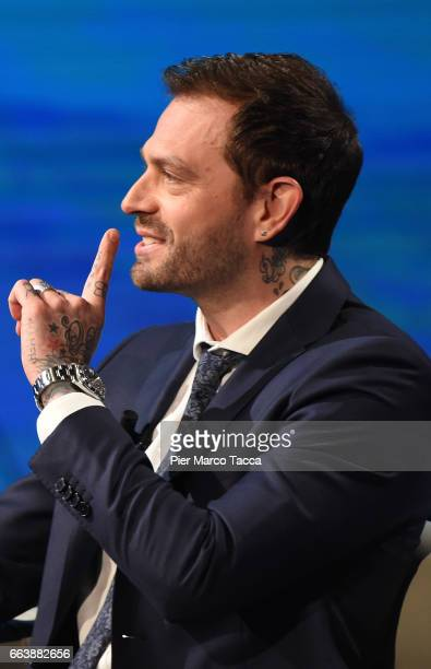 Paul Baccaglini attends 'Che Tempo Che Fa' tv show on April 2 2017 in Milan Italy