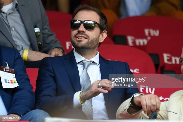 Paul Baccaglini President of Palermo looks on during the Serie A match between AC Milan and US Citta di Palermo at Stadio Giuseppe Meazza on April 9...