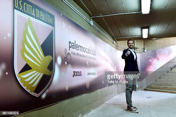 Paul Baccaglini President of US Citta' di Palermo looks on during a training session at Renzo Barbera Stadium on March 30 2017 in Palermo Italy