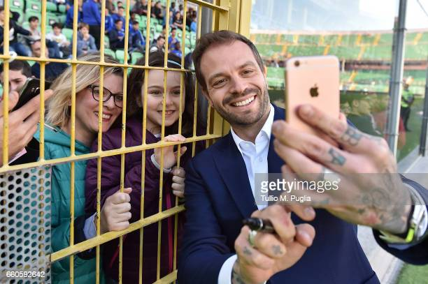 Paul Baccaglini President of US Citta' di Palermo meets supporters during a training session at Renzo Barbera Stadium on March 30 2017 in Palermo...