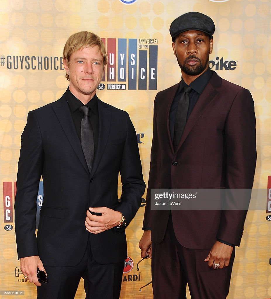 Paul Banks and RZA of Banks Steelz attend Spike TV's Guys Choice 2016 at Sony Pictures Studios on June 4 2016 in Culver City California