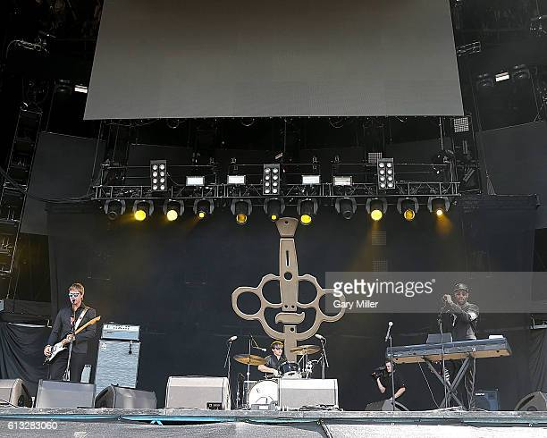 Paul Banks and RZA of Banks Steelz perform in concert during the Austin City Limits Music Festival at Zilker Park on October 7 2016 in Austin Texas