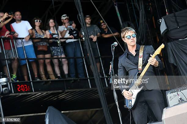 Paul Banks of Banks and Steelz performs in concert during the Austin City Limits Music Festival at Zilker Park on October 7 2016 in Austin Texas
