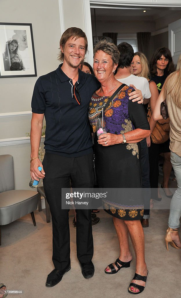 Paul Banks with his mother Penelope Garden attend MATCHESFASHION.COM Partners With Rika On 'Iron Girl' Project For Rika Magazine on July 18, 2013 in London, England.