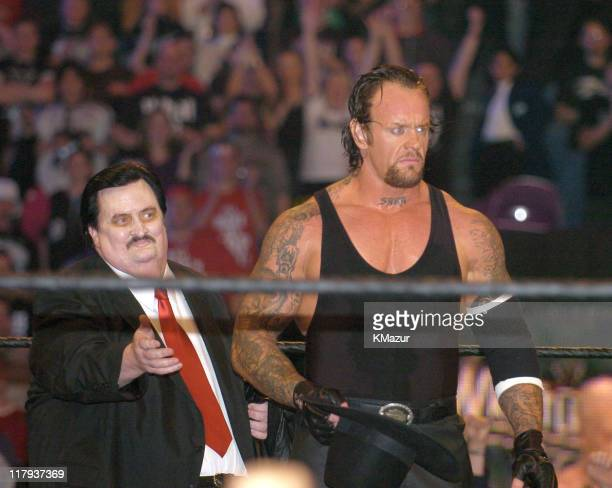 Paul Bearer and Undertaker during Wrestle Mania XX at Madison Square Garden in New York City New York United States