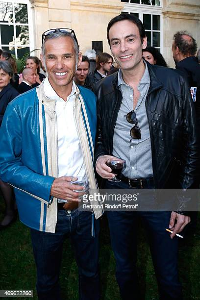 Paul Belmondo and Anthony Delon attend Museum Paul Belmondo celebrates its 5th Anniversary on April 13 2015 in BoulogneBillancourt France