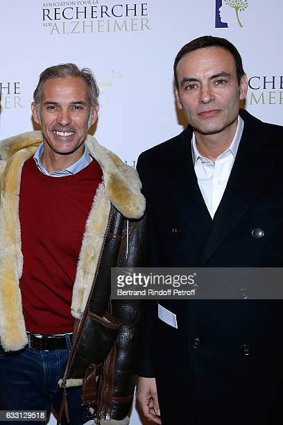Paul Belmondo and Anthony Delon attend the Charity Gala against Alzheimer's disease at Salle Pleyel on January 30 2017 in Paris France