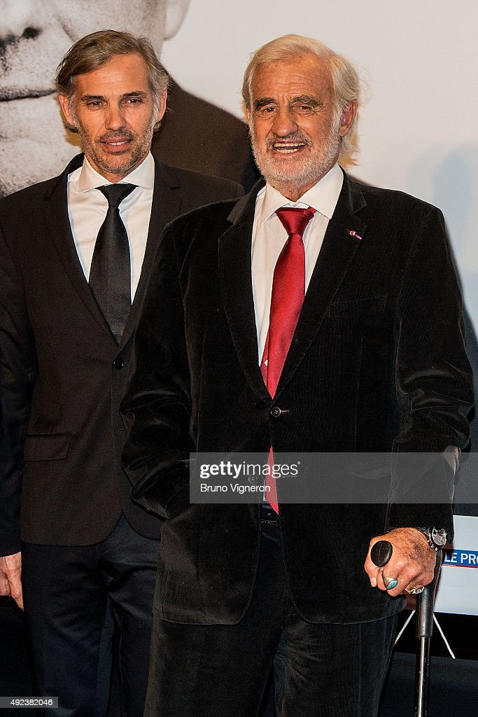 Paul Belmondo (L) and Jean-Paul Belmondo (R) attend the Opening Ceremony of the 7th Film Festival Lumiere on October 12, 2015 in Lyon, France.