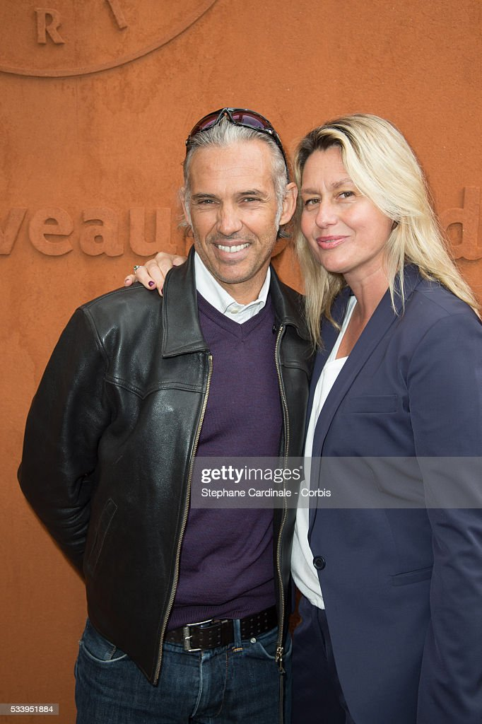 Paul Belmondo and Luana Belmondo attend the 2016 French tennis Open day 3, at Roland Garros on May 24, 2016 in Paris, France.